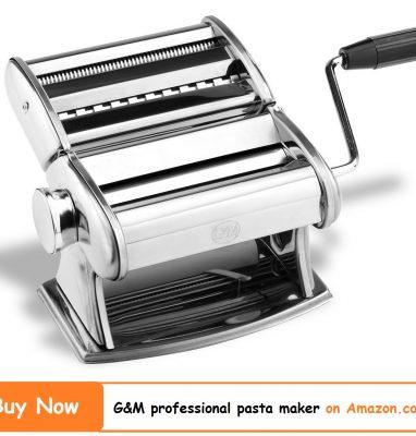 G&M Professional Pasta Maker Machine with Hand Crank 2