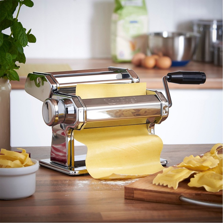 "Portable Mini Manual 7/"" Pasta Maker Making Machine Stainless Steel 3 Types"