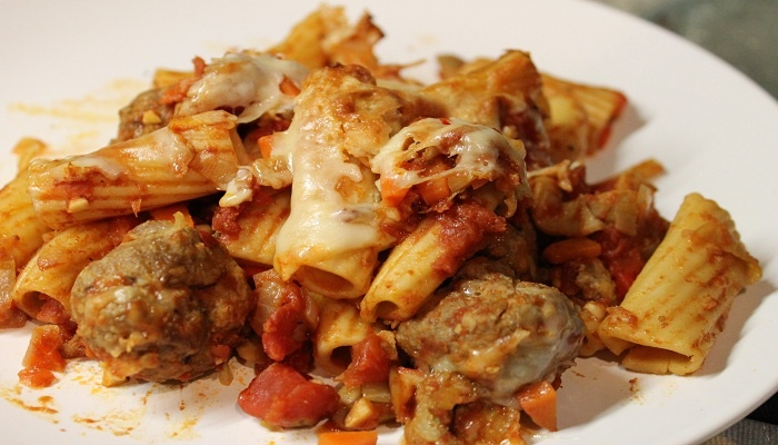 Rigatoni with Beef Meatballs Recipe