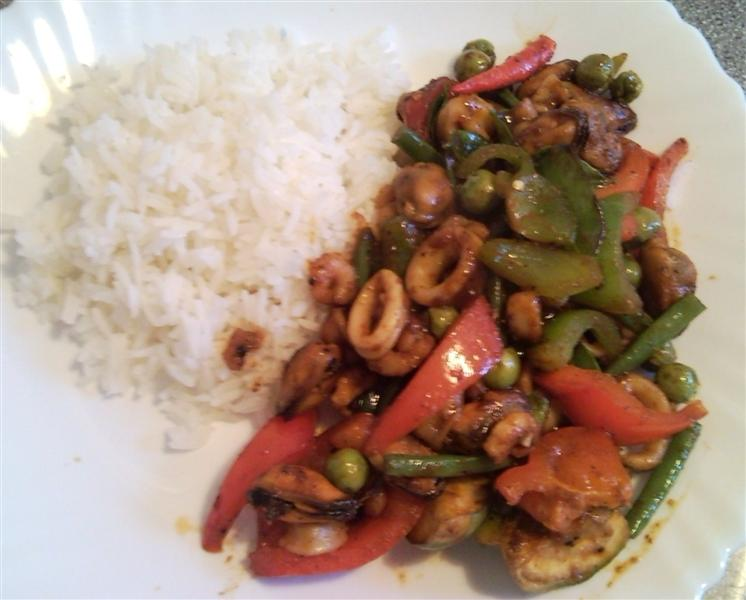 Thai Chilli Stir Fry With Seafood